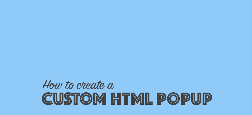 How to Create a Custom HTML Widget